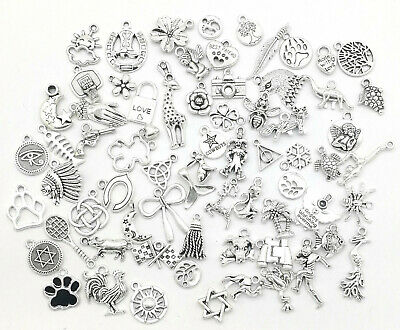 Different Types Tibetan Silver Charms Pendants beads Craft Jewellery - Charms Jewelry
