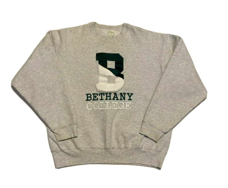 Vintage Turtle Creek Men's Sweater Size L Bethany College Pullover Made in USA