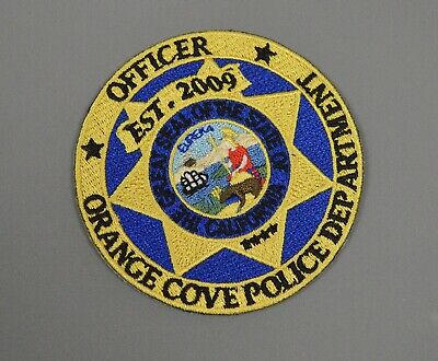 Orange Cove California Police Officer Patch ++ Mint CA, used for sale  Sunnyvale