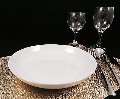 6 Pastateller 23cm Porzellan - Salat teller Porzellanteller tief Suppenteller