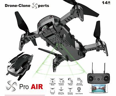 Drone X Pro AIR - 1080P HD Dual Camera WIFI FPV 20min Flight Follow Me Gesture C