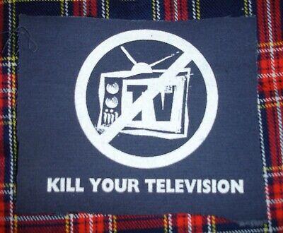 Kill Your Television DIY Patch- Punk Crust Black Flag Off Leftover Crack Oi, usado comprar usado  Enviando para Brazil
