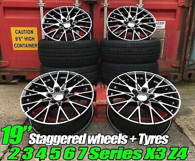 "Alloy Wheels + TYRES 19"" BMW M-Performance Style BMW 4 Series F32 F33 F36"