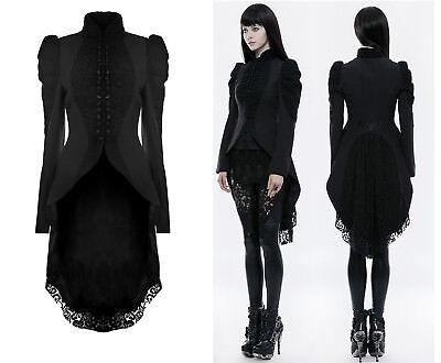 Punk Rave Gothic Jacke Steampunk SpitzeTailcoat Nugoth Gehrock Vintage WY-831L   ()