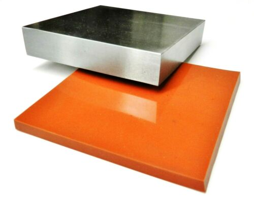 4x4 Steel Bench Block Jewelers Steel Block Metal Working Anvil with Silicone Pad