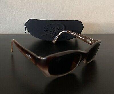 MAUI JIM Sunglasses MJ 219-01 Punchbowl Brown (RX) 54[]17 L135 w/ Case Italy (Maui Jim Punchbowl)