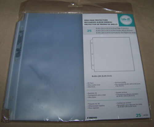 """We R Ring Photo Sleeves 8""""X8"""" 25/Pkg Full Page #6601432"""