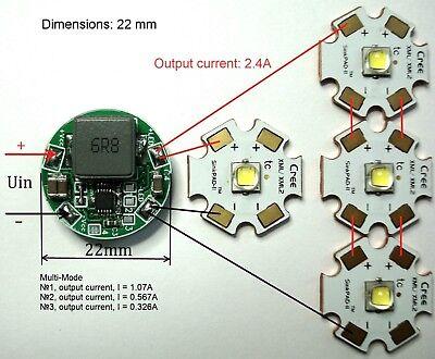 Led Driver Ldradj22-2.4a 2.4a Dc6.5v-28v Multi-mode Xhp70 Xm-l2 Xml