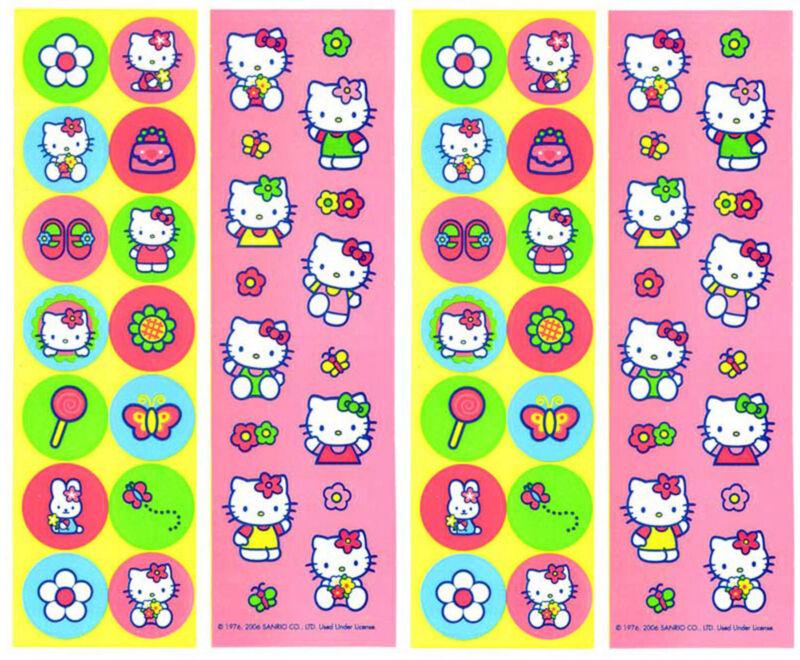 Sanrio HELLO KITTY Classic Bright Stickers 4 Sheets!