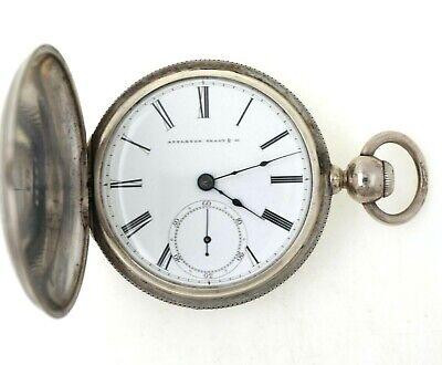 1863 Civil War Waltham 18S Keywind Pocket Watch W/ Coin Silver Case Appleton Tra