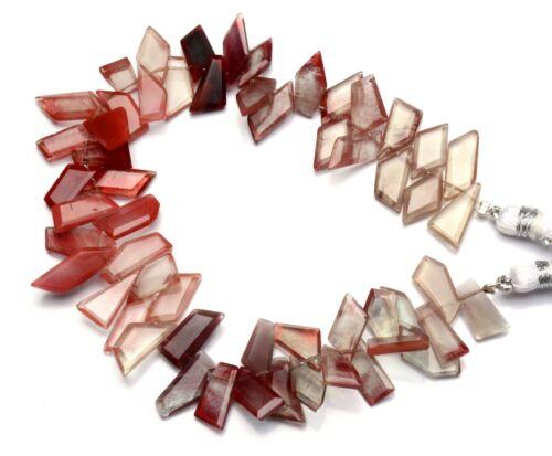 """Natural Gem Andesine Labradorite Faceted Slice Shape Beads 8.5"""" Strand 101Cts."""