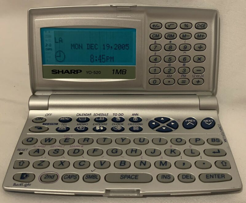 Sharp YO-520 Electronic Organizer 1MB Pocket  PDA Electric Calendar