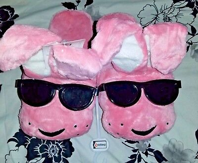 NWT Energizer Bunny Pink Plush Slippers ONE SIZE FITS MOST FREE SHIPPING New