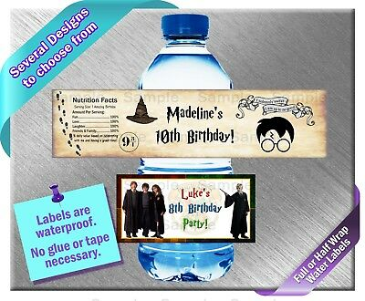 Wizard Harry Potter ~ Water Bottle Labels ~ Birthday Party Baby Shower Favors](Magician Party Favors)