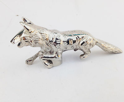 Brass Chrome Finish Handle Decorative Fox Head Running for Walking Cane Stick