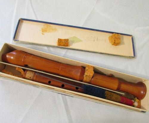 Vintage Original Alexander Heinrich Blockflote Wood Recorder Flute Original Box