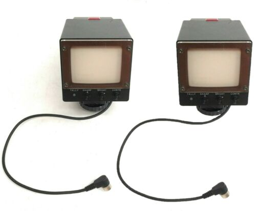 Lot of 2 Sony Electronic Viewfinder DXF-41, Monochrome Video Monitor