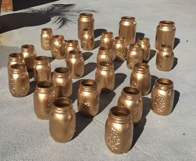 Gold mason jars (used)