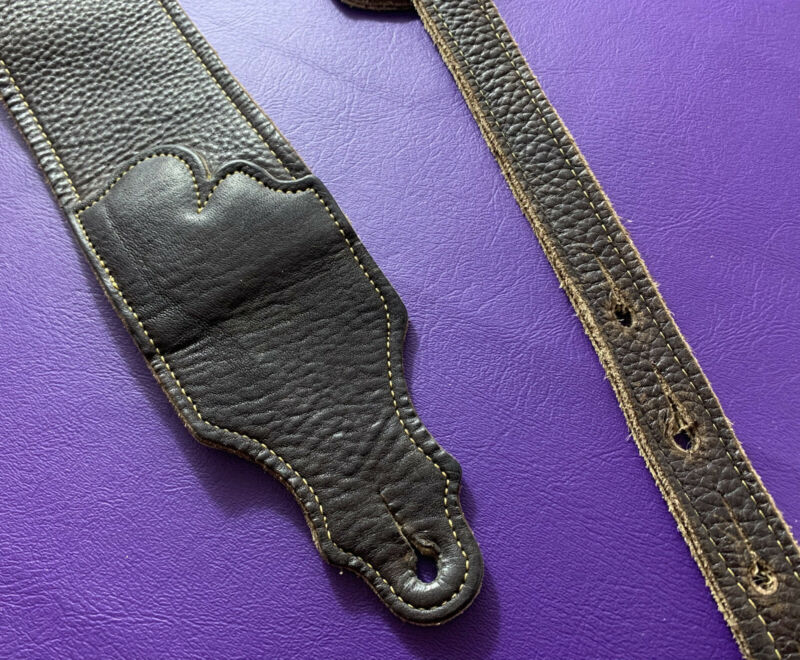 Leather Guitar Strap Franklin Extra Wide Soft Glove genuine HI Quality Leather