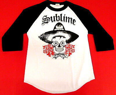 SUBLIME Raglan T-shirt POR VIDA Ska Punk LBC Long Beach Tee Adult Mens S-2XL New