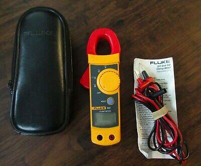 Fluke 322 Multimeter Clamp Meter Leads Case Instruction Card Tested Electric Amp