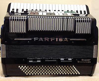 "FARFISA""SUPER""TRANSIVOX DOUBLE CASSOTTO-SCANDALLI HANDMADE REEDS-IN:SUPERB CON'D"