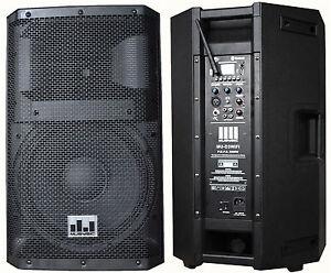 MUSYSIC MU-D3WIFI Professional 3000 Watt 2-Way Active Powered PA Speaker w/WiFi