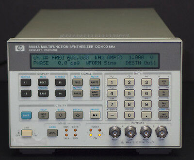 Hp Keysight 8904a Dual Channel Multifunction Synthesizer Dc-600 Khz Opts. 1 2