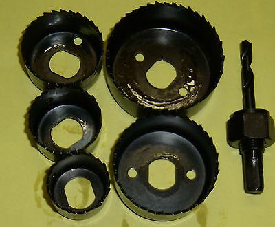 1 set  de scie cloche 32 à  64 mm , marque CROSS, 5 PCS, bois et métaux léger .