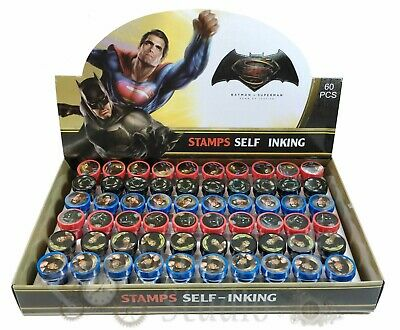 DC Batman vs Superman Self Inking Stamps for Kids Party Favor 60pc Stampers