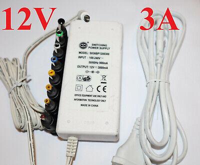 Gebraucht, 12V 3000mA Fritzbox Netzteil 2A 1A 1.35 2,1 2,5mm 3.0 4.0 Stecker CNC 3D Printer gebraucht kaufen  Hamburg