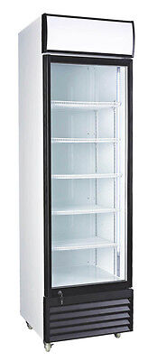 12.7 Cubic Ft. Glass Door Upright Display Beverage Cooler Free Shipping