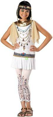 NWT-Jr Girls Teen White Gold Cleo Cutie Cleopatra Egyptian Halloween - Teen Egyptian Costume
