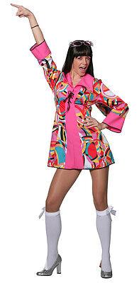 Groovy Power Hippie Kostüm NEU - Damen Karneval Fasching Verkleidung Kostüm (Neu Karneval Kostüme)