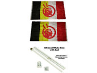 2x3 Ft American Indian Movement Flag Native American Rights Protest Banner AIM