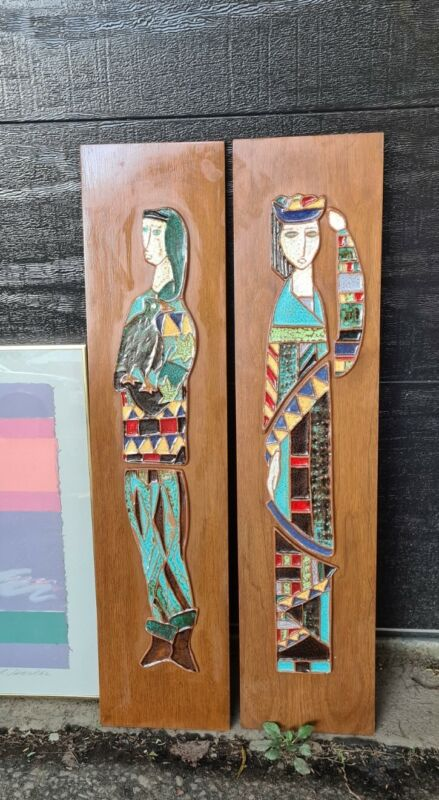 MCM Harris Strong/ Maurice Chalvignac Ceramic Wall Plaques
