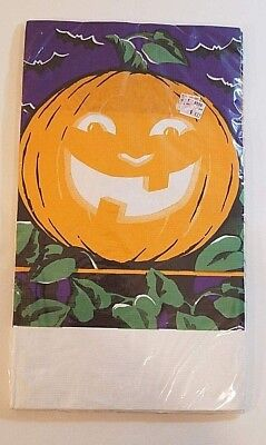 NOS Vintage Halloween Paper Tablecover / Tablecloth -Great Pumpkin - 48