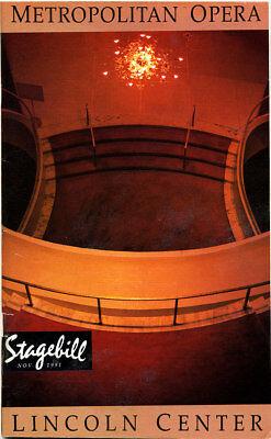 Programmheft Stagebill Nov. 1991 Aida Metropolitan Opera