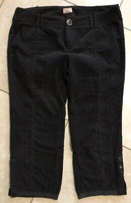 Free People Black Cord Corduroy Crop Wide Leg Pant Size 10 Wide Leg Cord Pant