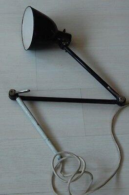 Bauhaus Gelenklampe Werkstattlampe, Arbeitstischlampe, Midgard Kandem Aera