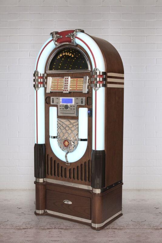 Crosley iJuke Bluetooth Deluxe Full Size Jukebox Walnut CR1206A-WA Factory NEW