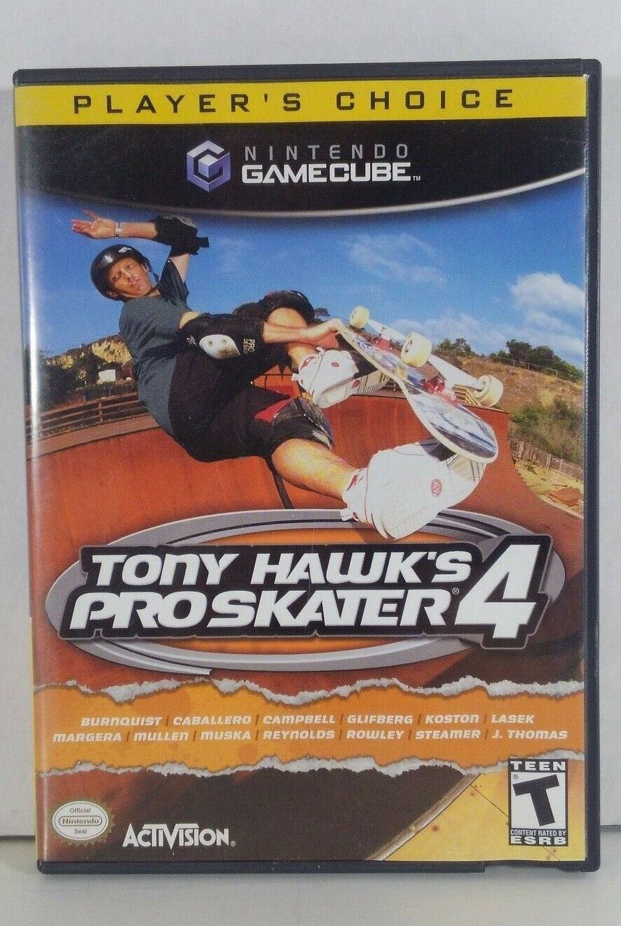 """Tony Hawk's Pro Skater 4"" 2001 GAMECUBE GAME- Nintendo - EX"