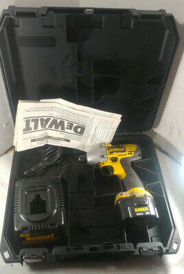 1 Used Dewalt Dw052 14 Impact Driver W Charger 12v Battery Case