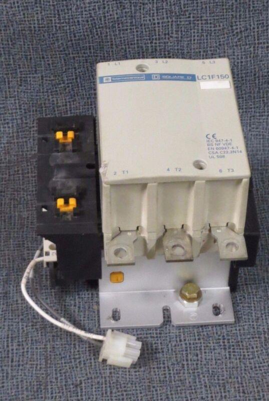 SQUARE D TELEMECANIQUE CONTACTOR 250 AMP 600 VAC 125 HP 110V COIL #LC1F150F6S088