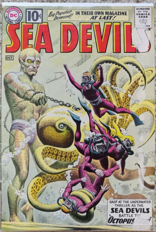 SEA DEVILS #1 VG+ 4.5 DC 10/1961