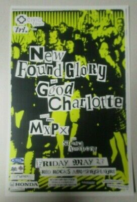 NEW FOUND GLORY / Good Charlotte MxPx 2003 Red Rocks Promo Poster 11x17 Handbil;