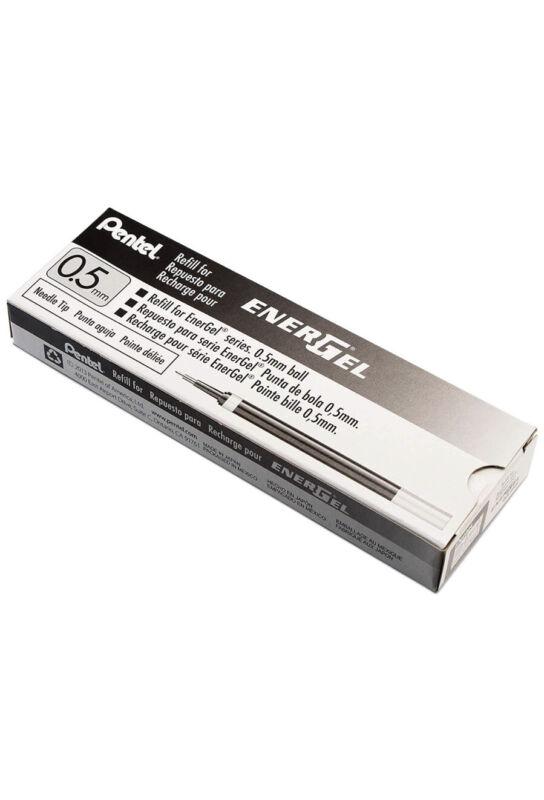 12 packs Pentel Energel Pen Gel Ink Refill 0.5mm Black 1 Dozen