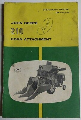 John Deere 210 Corn Attachment Operators Manual