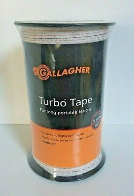 Gallagher 12 Turbo Tape 656 18 Mile Long Portable Electric Fence New