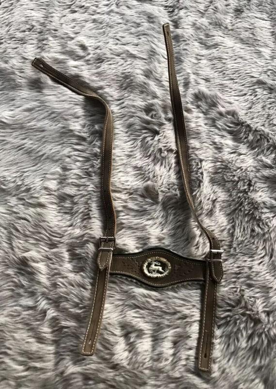 Vintage Unbranded Oktoberfest Leather Deer Lederhosen Suspender Straps Boys 65